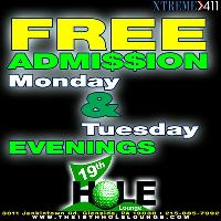 No Cover Charge Mon. & Tues!