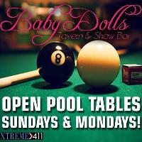 Open Pool Sundays & Mondays! Play A Game W A Hot Dancer!