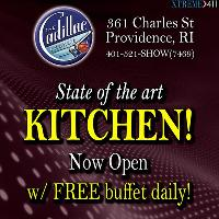 Free Buffet at Cadillac Lounge Rhode Island Daily!