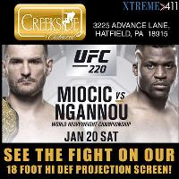 See The UFC Fight Live On Our 18 Foot Hi Def Screen! Panoramic Views!