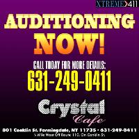 Now Auditioning Entertainers at Crystal Cafe!