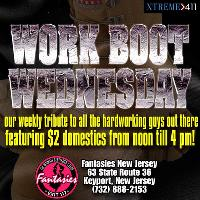 Work Boot Wednesdays at Fantasies Club in New Jersey