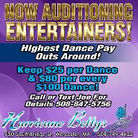 Now Auditioning Entertainers At Hurricane Betty's In Worcester MA!