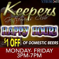 Happy Hour Mon- Fri 3pm-7pm At Keepers In Milford CT!