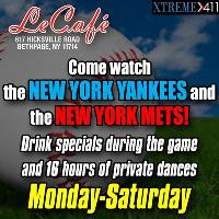 Watch all New York Games at Le Cafe New York- Drink and Dance specials