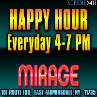 Happy Hour at Mirage New York 4-7 pm