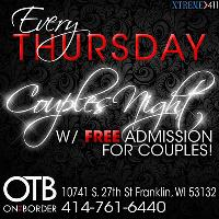 Every Thursday FREE Cover for Couples Night at On the Border in WI