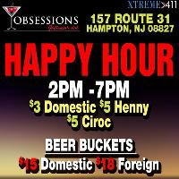 Happy Hour at Obsessions Gentlemens Club 2-7 pm