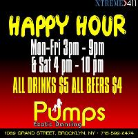 Happy Hour at Pumps in Brooklyn, NY