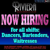 Now Auditioning Entertainers at Riviera in Astoria NY