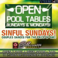 Chill w/ Our Ladies On Sundays! Open Pool Tables