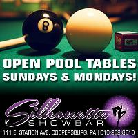 Open Pool Sundays & Mondays!