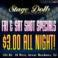 Friday and Saturdays at Stage Dolls, NJ