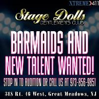 Now Auditioning and Hiring Bartenders at Stage Dolls New Jersey!